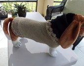 Dog Sweater Hand Knit SPRING PREVIEW 22  inch long Large