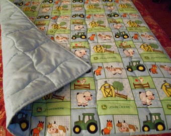 "Handmade NEW Baby-Barn Yard Patch Todder Bed  or Crib Size  Quilt Comforter  36 "" x   56 ''"