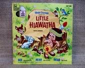 VINYL RECORD SALE Christmas...Walt Disney - Little Hiawatha - 1968 Vintage Vinyl 33 1/3 rpm Record Album...Includes 24 page Read Book