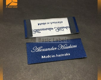 100 woven label custom, clothing tags, clothing labels, custom woven labels, end folded