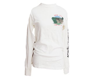 Vintage 80's Rock City Tennessee Long Sleeve T-shirt Lookout Mountain Size XS