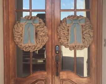 NEW! Double Door Wreaths, Spring Wreaths for Front Door, Farmhouse Wreaths, Home Decor, Easter Wreaths for Front Door