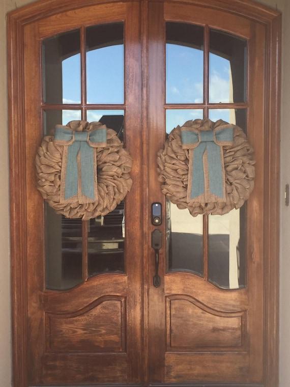New double door wreaths spring wreaths for front door for New double door