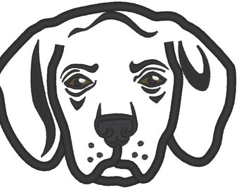 Beagle Dog Breed - machine embroidery applique designs - INSTANT DOWNLOAD 4x4, 5x7,