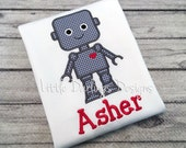 Cute Boys Robot Valentine's Day Shirt