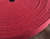 "Red 1 and  1/4"" Cotton Webbing for belts, key chains, dog collars and more Sold by the Yard~~~Ready to Ship"
