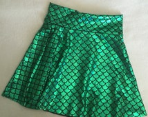 Baby Toddler Girls Little Mermaid Skirt Emerald Green & Black Birthday fish scale pants 6 9 12 18 24 months 2T 3T 4T 5T 5 6 7 9 8 10 11 12