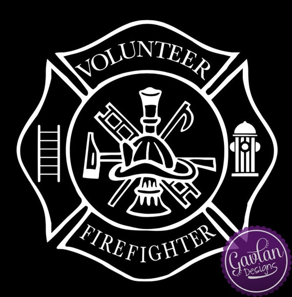 Volunteer Firefighter Window Decal Ladder Fire Hydrant