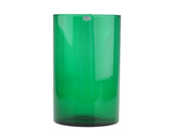Mid Century Vintage Kaj Franck Green Purtilo Serie Vase for Nuutajärvi / Arabia Of Finland 1971 - Finnish Modern Art Glass..