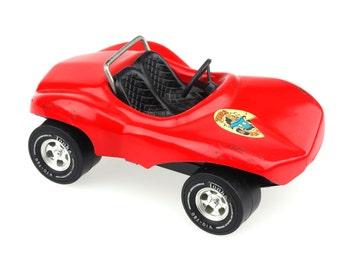 Vintage Tonka Red Conertible Dune Buggy Baja Racer / Tonka Pressed Metal Toy Car / F670..