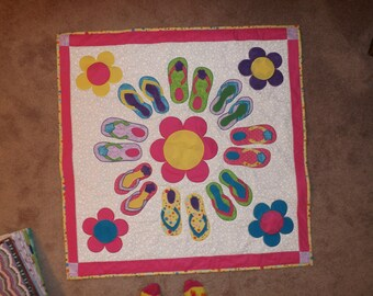Summer fun flip flop wall quilt