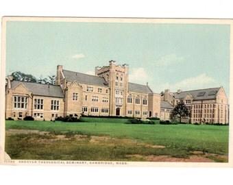 Andover Theological Seminary, Cambridge Massachusetts Vintage Unused Postcard
