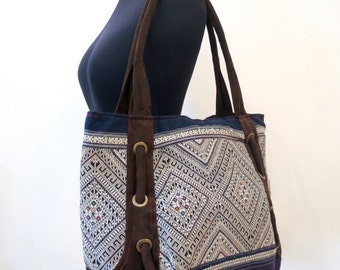 ON SALE, Ethnic Vintage Handmade bags  bohemian  beautiful silk stitching handbags and purses,