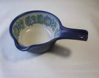 SALE Vintage Figgjo Flint Flameware Design Norway Folklore Ceramic Pot