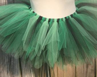 Bright Citrus Green Lime and Black Teen Adult Tutu  Race Running Tutu Halloween Costume. St Patricks Day. Crazy Tinkerbell Tutu