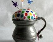 Pincushion - Pewter Mug