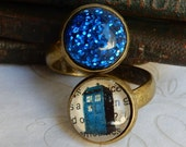 Doctor Who Ring,  Tardis Ring, Timey Wimey Jewelry, Doctor Who Jewelry