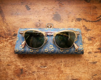 Vintage Women's Shuron Bifocal Sunglasses - Fifties Cat Eye Style in Original Case