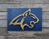 Montana State University String and Nail Art - MSU Bobcats - Bozeman