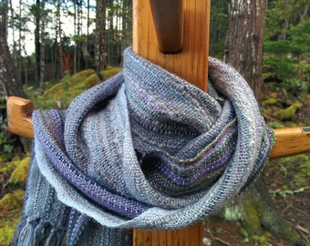 Shades of Lavender Handwoven Scarf