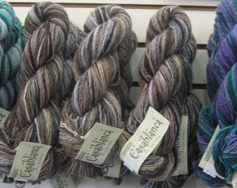 Cascade Casblanca Wool Silk Mohair Blend Worsted Roving Yarn Fiber Multi Colored Discontinued Colors