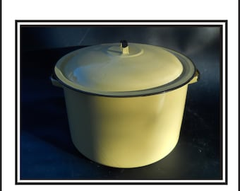 Yellow Enamel Pot