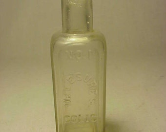 c1890s Dr. Lesure's Colic Cure No. 1 Keene, N.H., Cork Top Veterinary Medicine Bottle