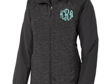 Monogrammed Windbreaker- Monogrammed Rain Jacket- Womens Jacket- Personalized Jacket- Personalized Windbreaker
