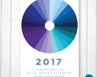 "2017 ""Chromophilia"" Color Wheel Wall Calendar"