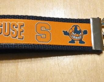 Syracuse University Inspired Key Fob/Wristlet on Blue