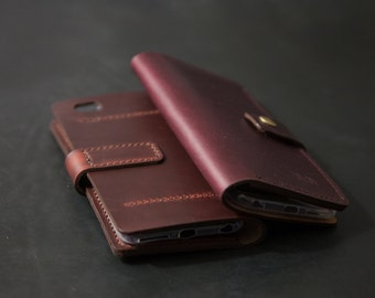 Leather iPhone 7 Plus Wallet Case