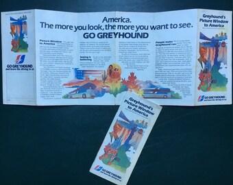 Go Greyhound Route Map USA 1980