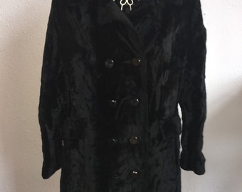 Old Hollywood Style Vintage Women's Faux Fur Coat – Small/Medium