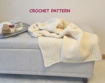 Grace Throw Blanket Crochet Pattern, Instant PDF Download