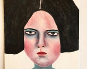 Original art // portrait painting // Jupiter no. 88 // original painting // illustration on art board // woman painting