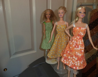 Sundress Floral Prints, Cotton, Easy On and Off for 11 1/2 inch dolls, Ready to Ship