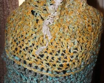"Raw Co. Nature Art Inspired shawl  ""Karis"""