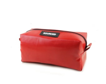 Clearance - Truck tarpaulin washbag, Recycled dopp kit, Fully lined and unique