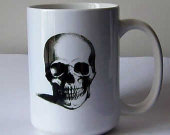 Smiling Skull Coffee Mug, 15 oz.