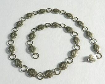 Vintage Navajo Style Metal Conch Belt