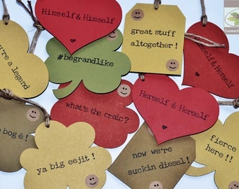 Funny Irish Hang Tags - Hanging Car Accessory - Ah sure, you'll be grand! - Fair Play To You - Handmade in Ireland
