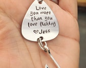 Fishing Keychain, Boyfriend Gift, Fishing Lure, Personalized Fishing Lure, Love You More Than You Love Fishing, Fathers Day Gifts, natashaal