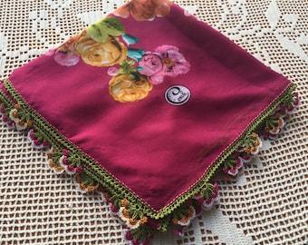 Turkish Crochet Oya Lace Scarf