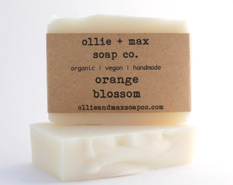 Orange Blossom Cold Processed Soap Vegan Soap and Organic Soap, Citrus Soap