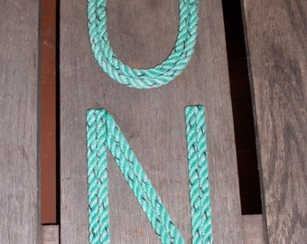 10 INCH Rope Letters Room Decor Kids Name or Nursery Sangs Nautical Themes Cowboy Rustic too