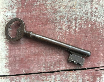 Antique French Skeleton Key from France Metal ~ #2395
