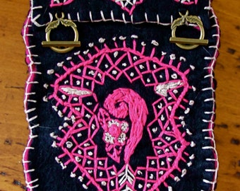 ONE of a KIND Handstitched HENNA Inspired Tarot Bag with Blessing