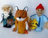 CUSTOM Finger Puppets for K - Renoir, Fantastic Mr. Fox, Steve Zissou