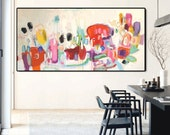 """original xxl 60"""" abstract painting, wall art, painting, lerge painting by Jolina Anthony"""