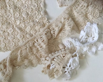 Crochet Lace Assortment, Crafting Supply, Sewing Supply